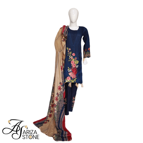 Buy Ariza Stone Women Designers Embroidered Dress AZS-207 On Installments