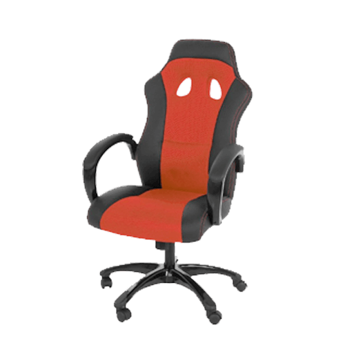 Buy Swift Chair: Red and Black (OF-SWFT-RD-44236) On Installments