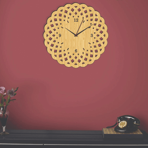 Buy Special Style Dark & Light Color Clock On Installments