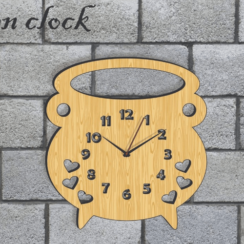 Buy Coffee Dark & Light Color Clock On Installments