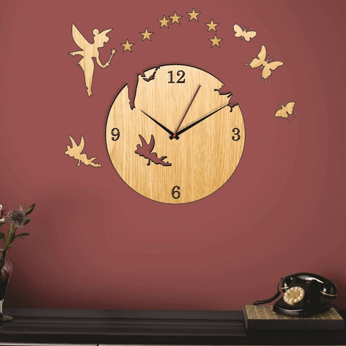 Buy Fairy Dark & Light Color Clock On Installments