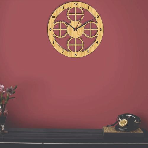 Buy Special Style Dark & Light Color Clock On Installments