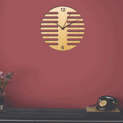 Buy Geometry Style Dark & Light Color Clock On Installments