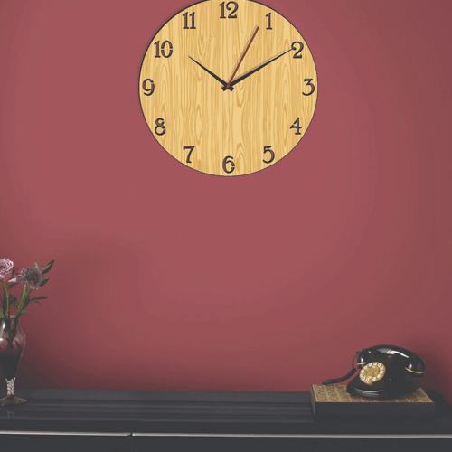 Buy Number Dark & Light Color Clock On Installments
