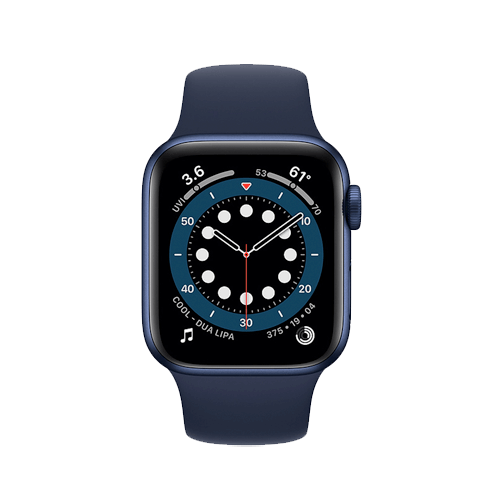 Buy Apple Watch Series 6 Blue Aluminum Case with Sport Band On Installments